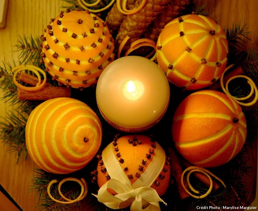 Décoration noel orange girofle
