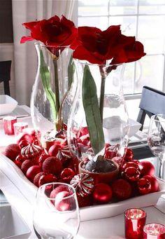 Decoration noel blanc et rouge