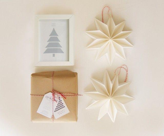 Decoration noel origami