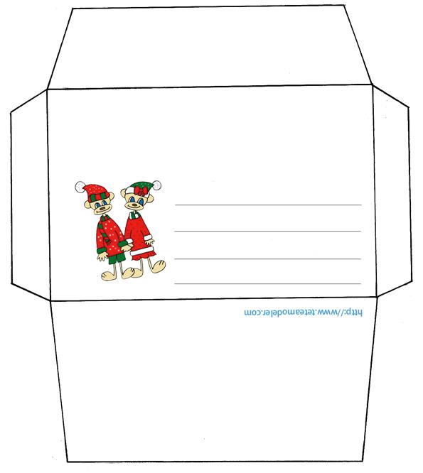 Étonnant Deco enveloppe noel a imprimer - Idée de luminaire et lampe maison QW-34