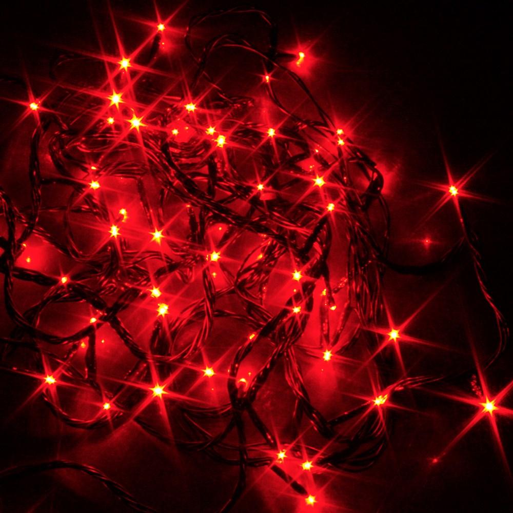 Guirlande noel led rouge