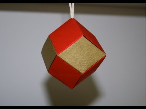 Origami boule de noel youtube