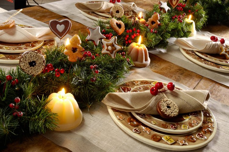 Decoration De Table Pour Noel Fait Main Idee De Luminaire Et Lampe