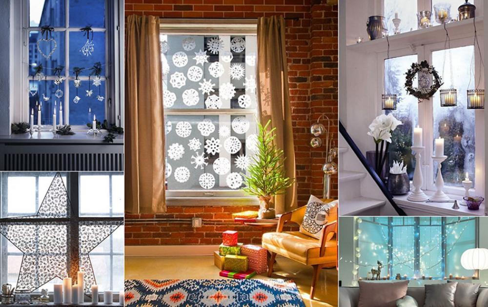 Decoration De Noel Fenetre Interieur Idee De Luminaire Et Lampe Maison