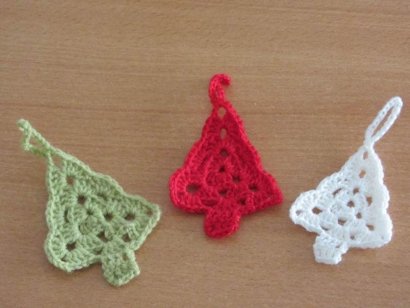 Decoration de table de noel au crochet