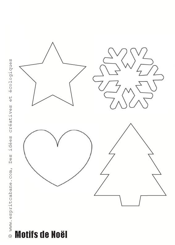 Modele Deco Noel A Imprimer Noël En France