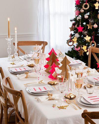 Decoration de table noel original