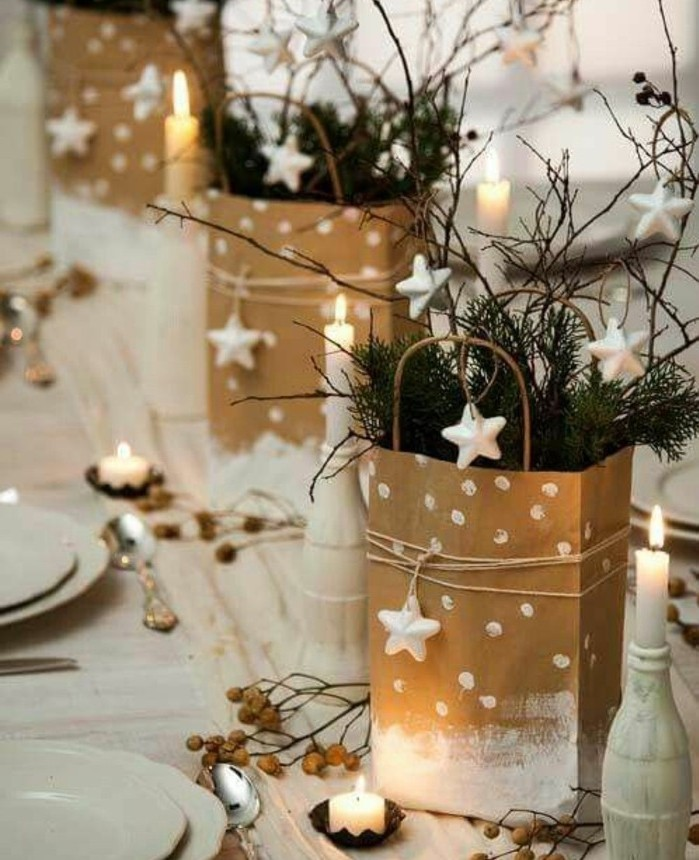 Decoration de table de noel facile a realiser