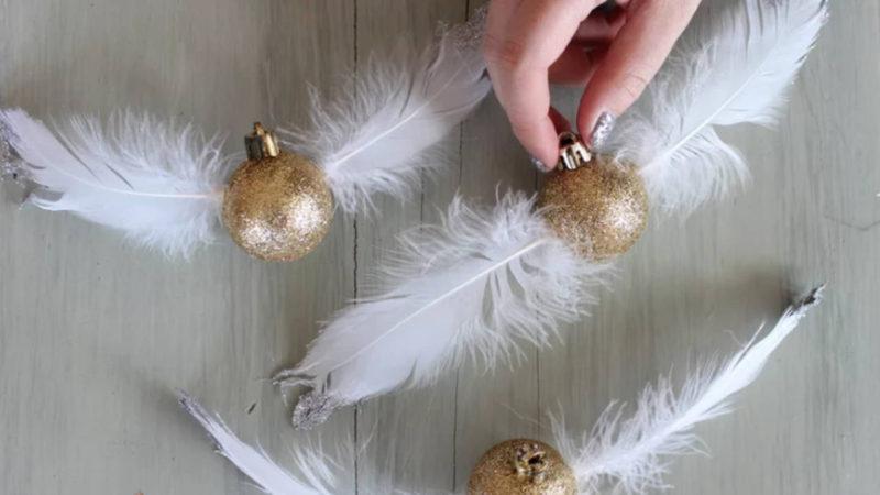 Faire Boule De Noel En Plume Idee De Luminaire Et Lampe Maison