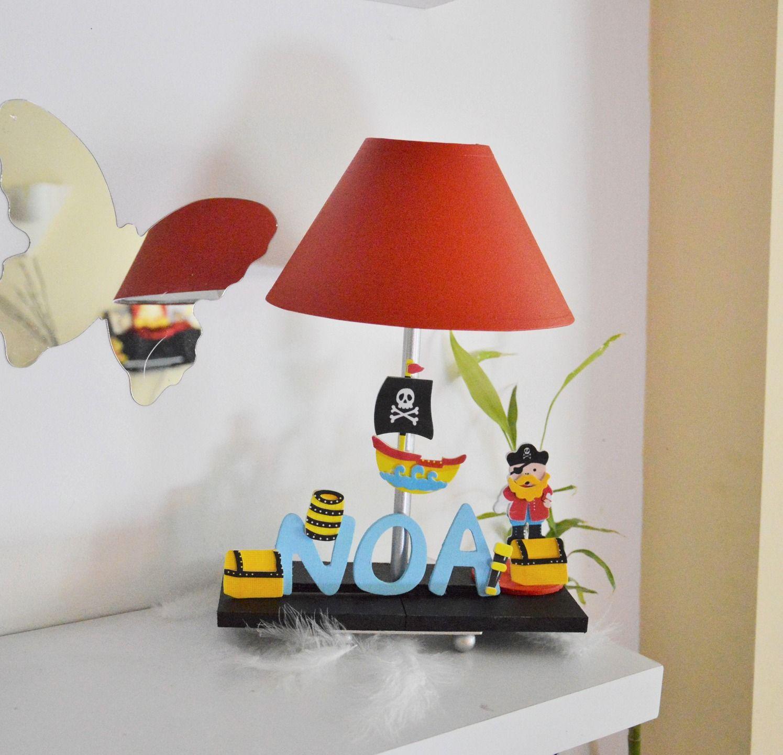 Lampe de chevet enfant orange