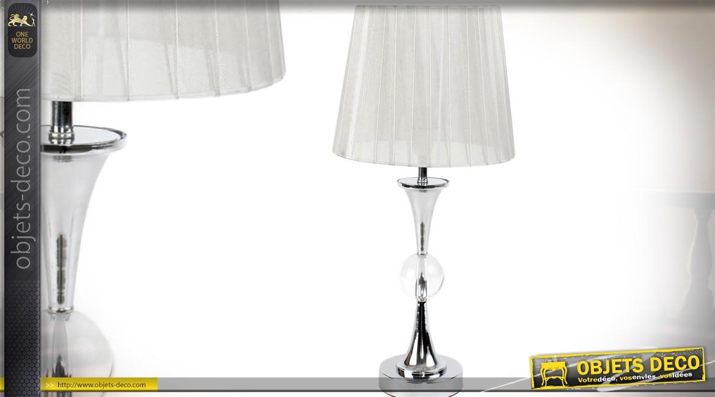 Lampe design pied metal