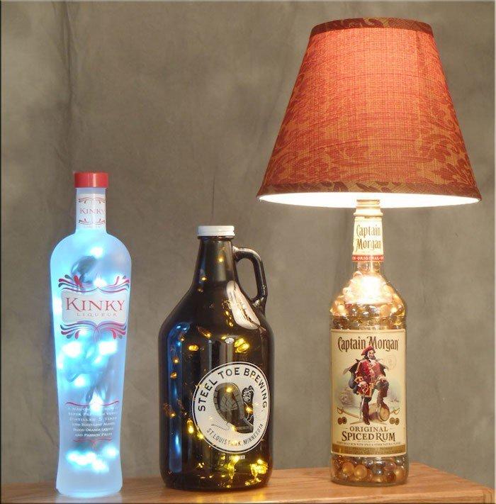 Comment Fabriquer Une Lampe De Chevet Avec Une Bouteille En Verre