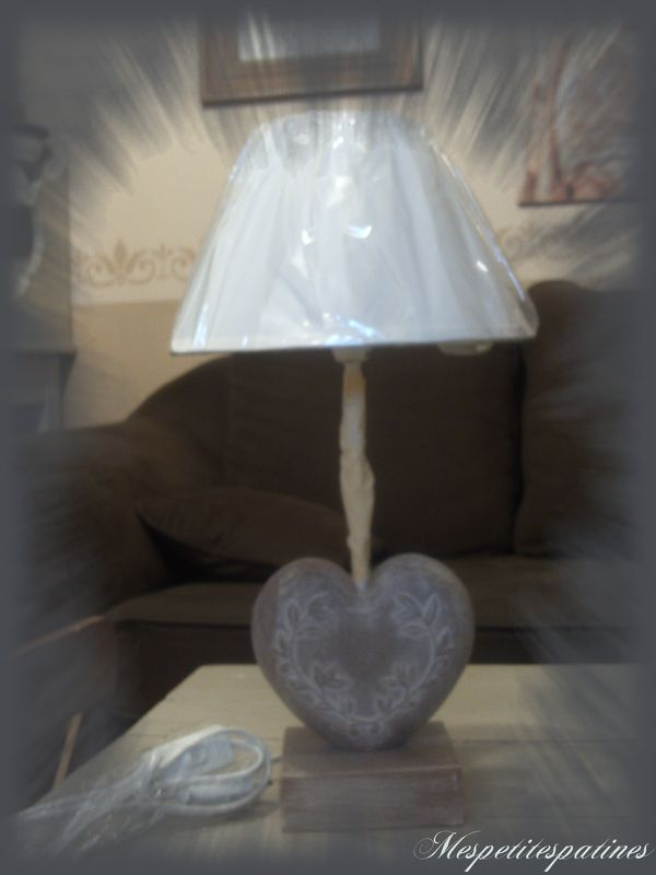 Lampe de chevet coeur gifi