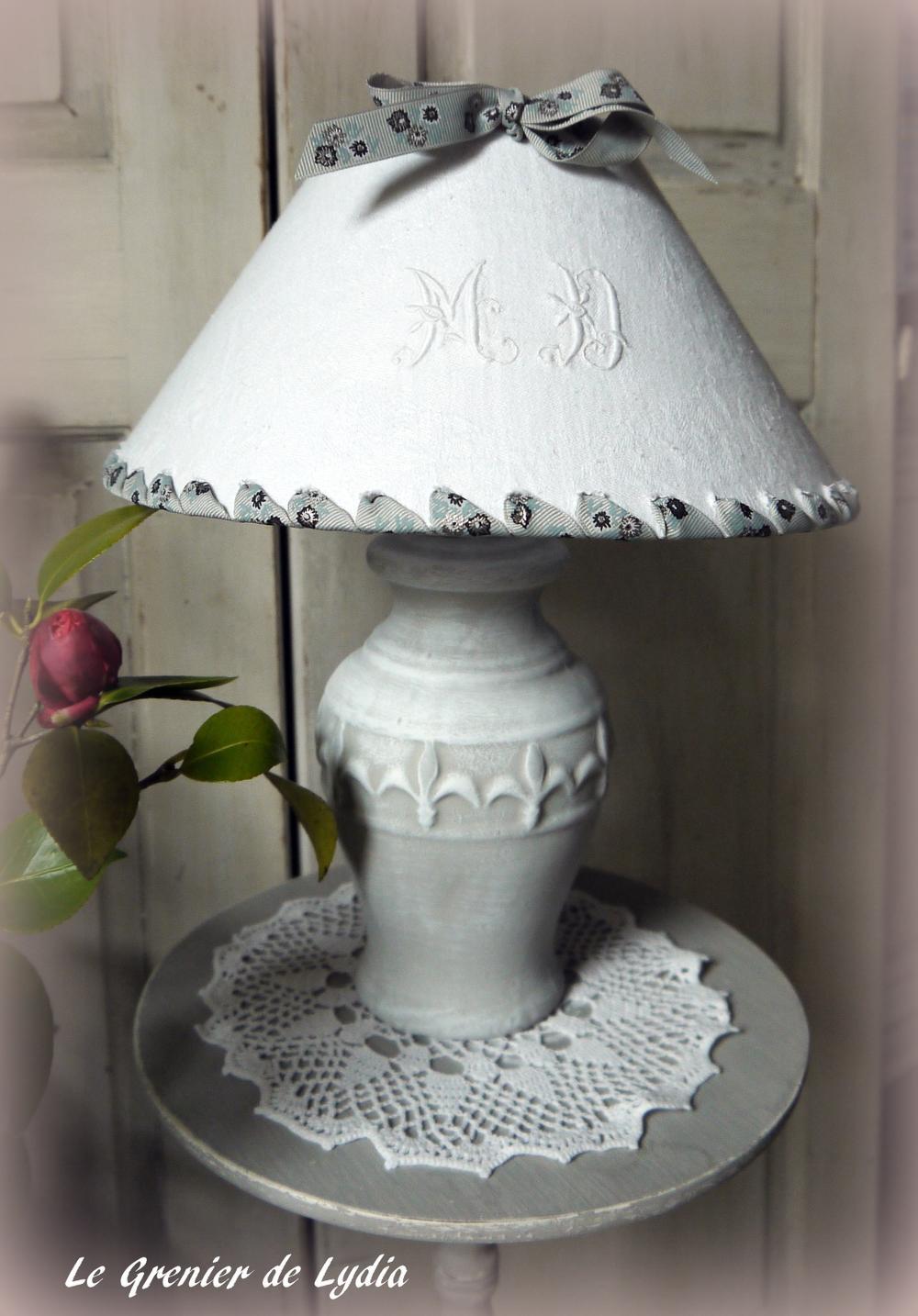 Abat jour lampe de chevet ancien