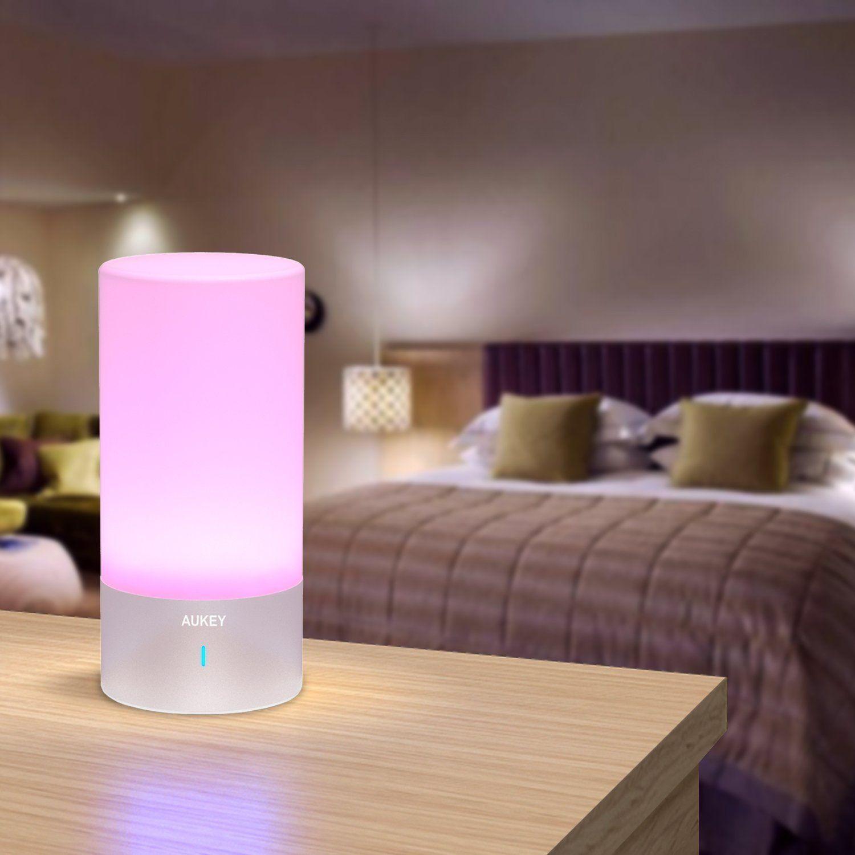 Lampe de chevet sensitive touch tactile design