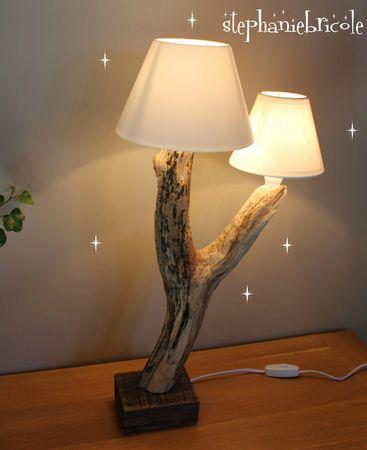 Lampe de chevet diy bois