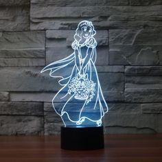 Jfl led 3d vision lampe de table bureau chevet