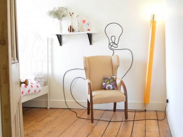 Lampe crayon design
