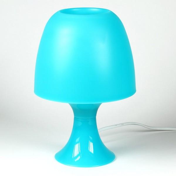 Lampe de chevet bleu et beige
