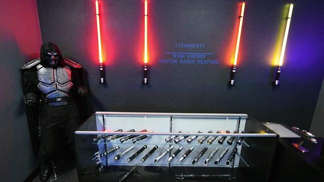 Lampe de chevet sabre laser