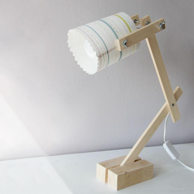 Diy lampe de chevet bois