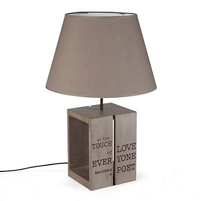 Lampe a poser design taupe