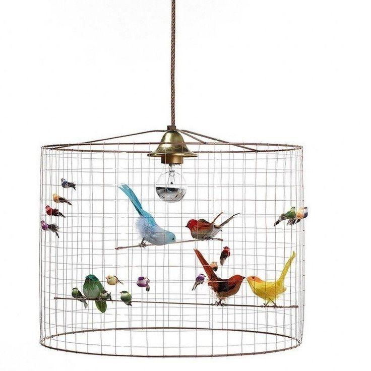 Lampe design cage oiseau