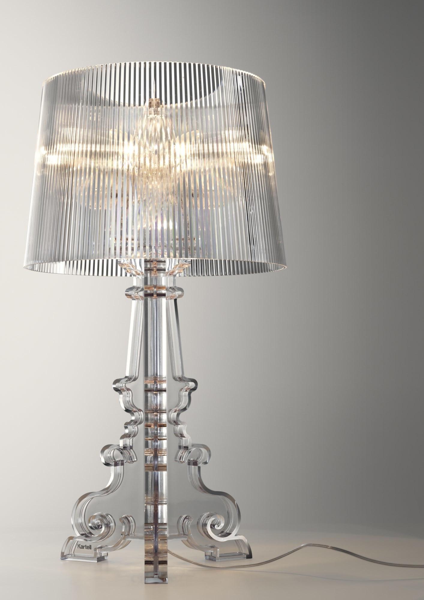 Kartell 9070b4 Lampe De Table Bourgie Cristal Design Philippe Starck