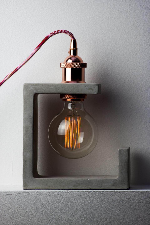 Lampe design béton
