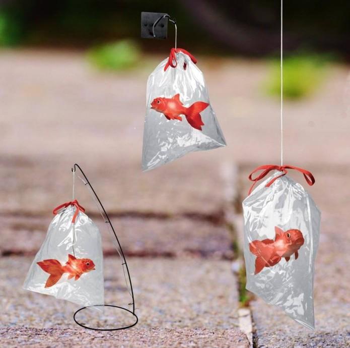 Tung design lampe poisson