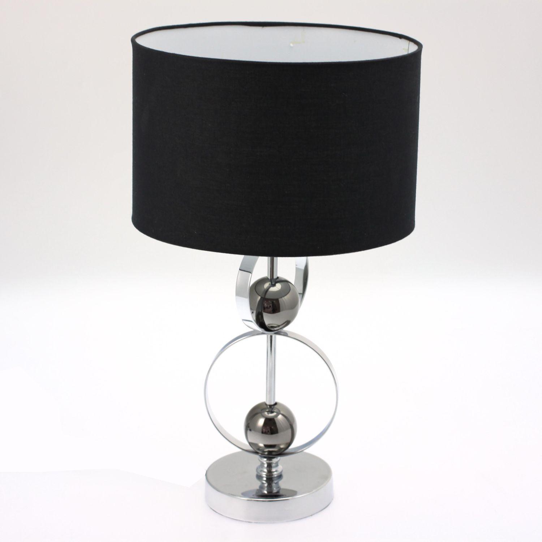 Lampe De Chevet Noir Argent Idee De Luminaire Et Lampe Maison