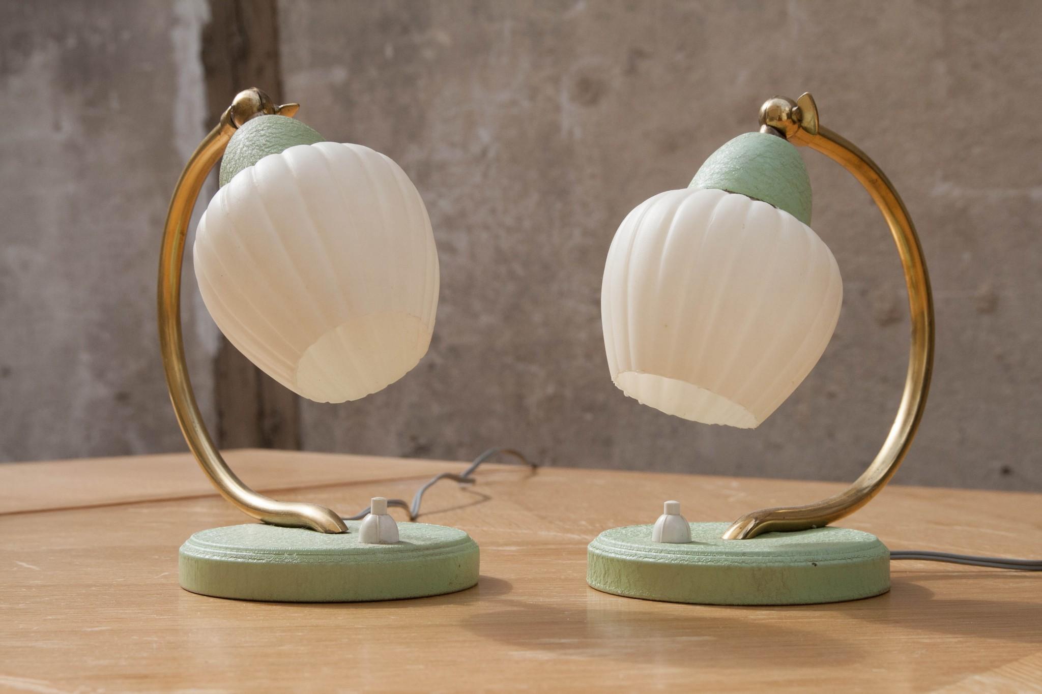 Pied de lampe chevet vintage