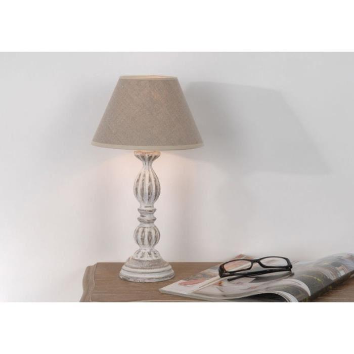 Lampe de chevet au mur fil apparent