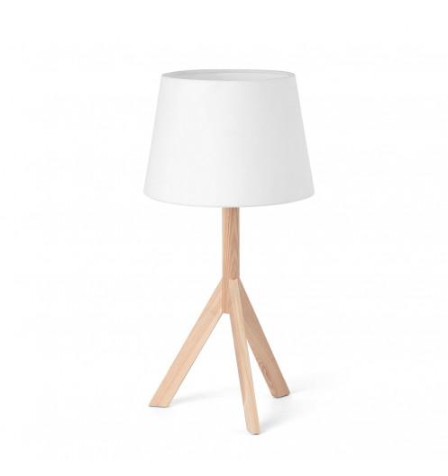 Lampe de chevet blanc bois