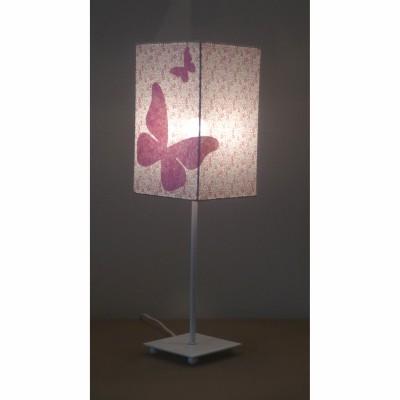 Lampe de chevet papillons fille