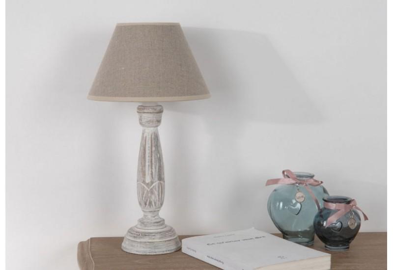 Lampe de chevet classique beige