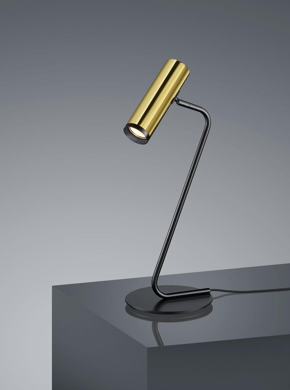 Lampe de table design noire
