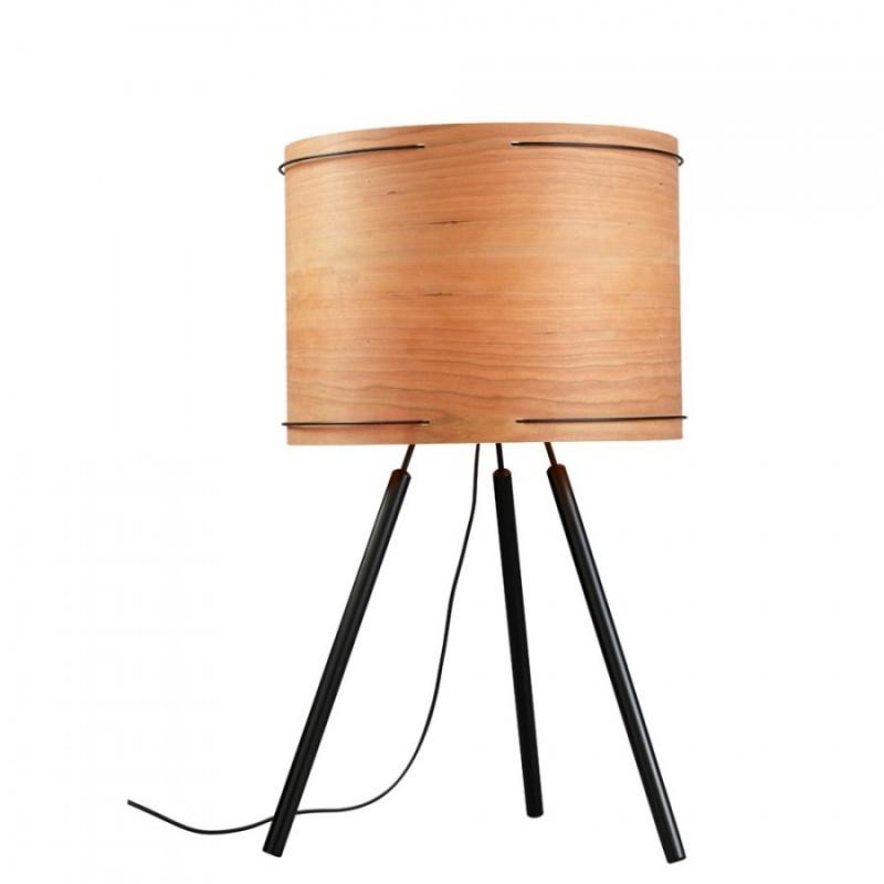 Lampe à poser bois design