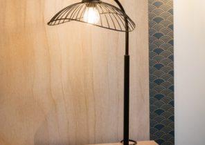Chevet Luminaire Maison Et Orange Idée Lampe Marron De PkiTuOXZ