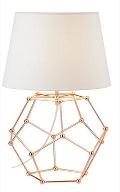 Lampe de chevet design cuivre