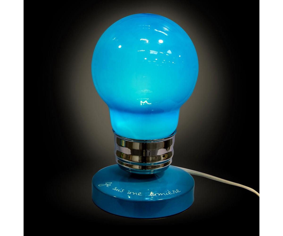 Lampe de chevet bleu electrique