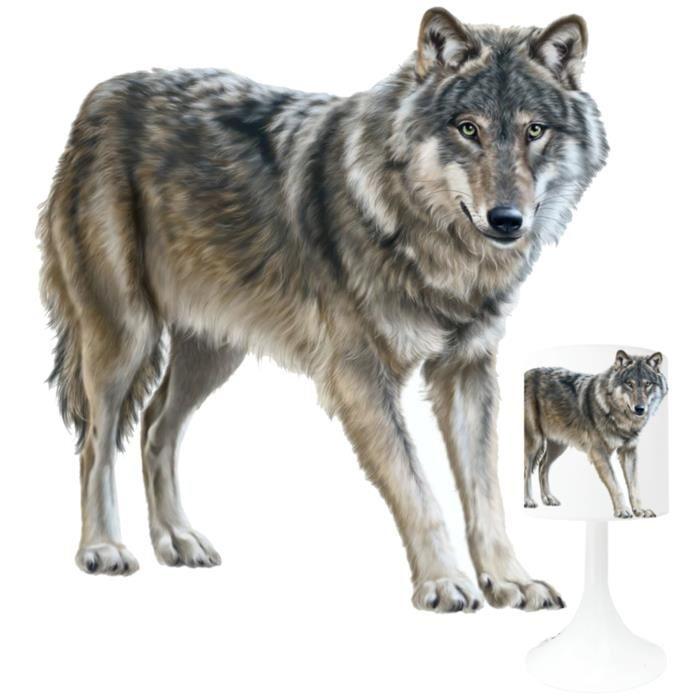 Lampe de chevet loup