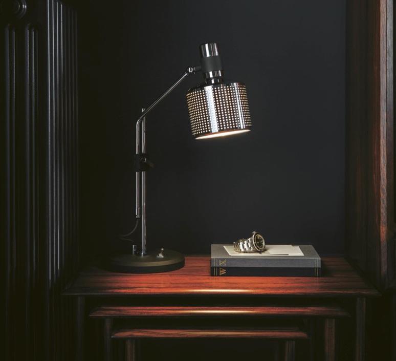 Lampe à poser design chrome led