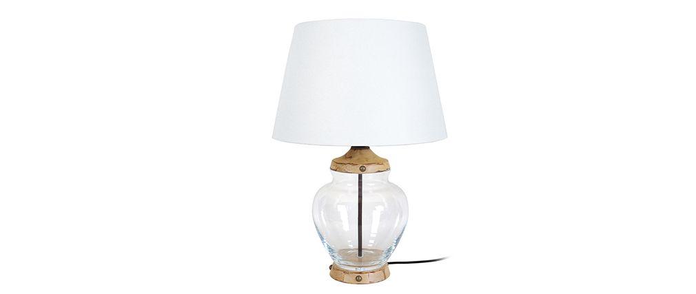 Lampe a poser design en verre