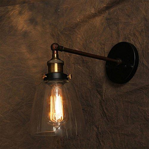 Applique murale ampoule apparente