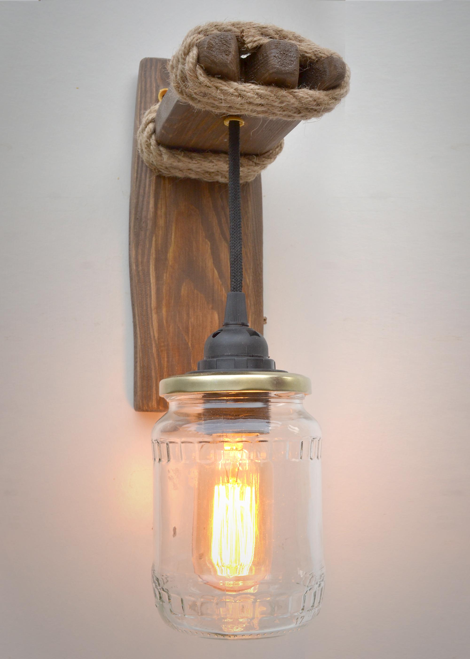 Applique De Lampe Maison Murale Luminaire Idée Bocaux Et PikXZOu