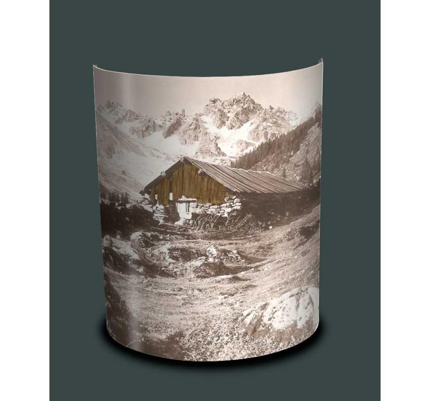 Applique murale de montagne