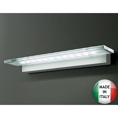 Applique murale verre led