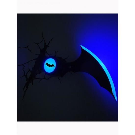 Batman masque 3d led applique murale