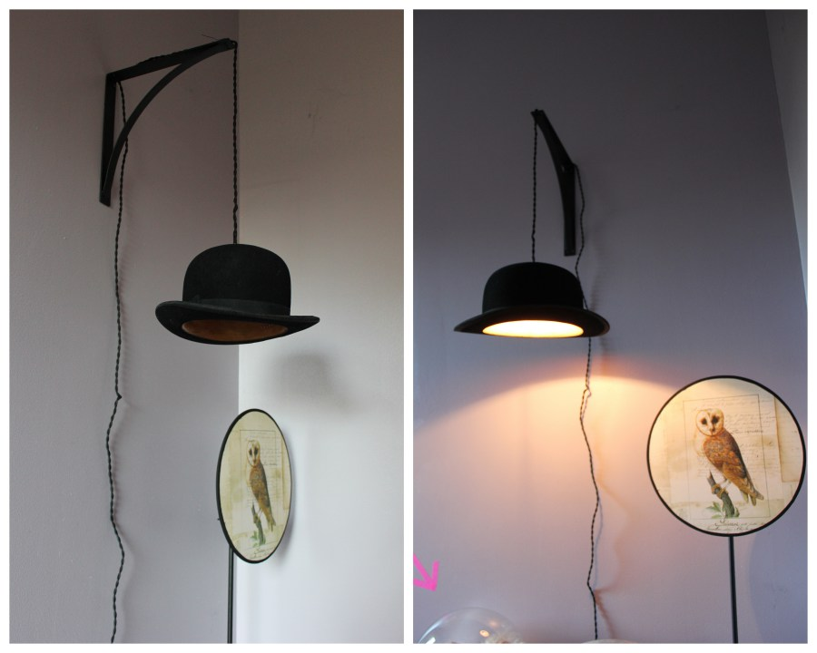 Chapeau pour applique murale